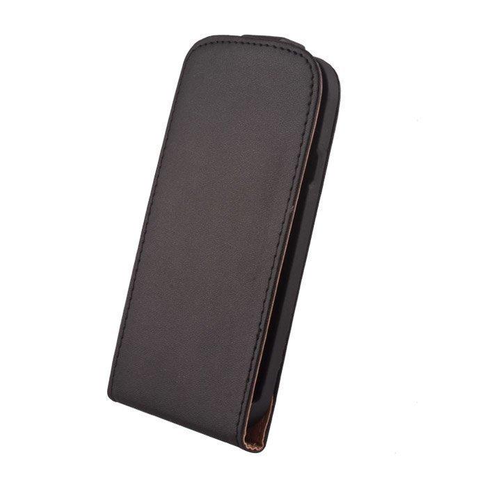 GreenGo Samsung Galaxy Mega i9159 Suojakotelo Laadukasta Keinonahkaa musta