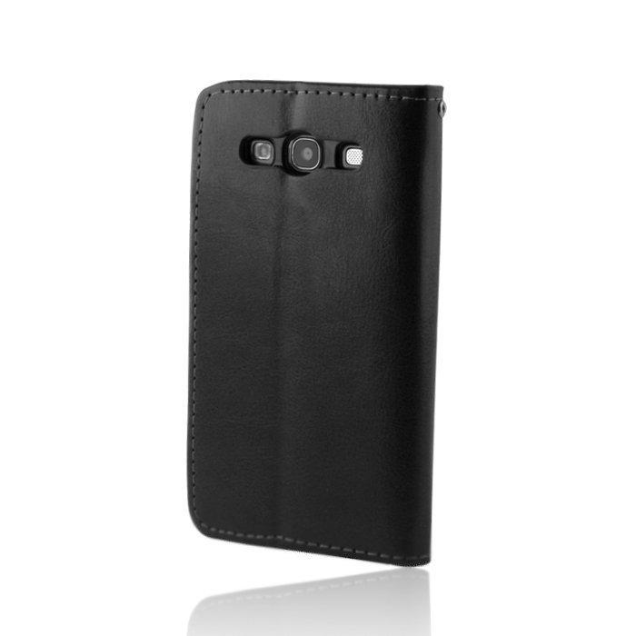 GreenGo Samsung Galaxy S4 Lompakkomallinen Suojakuori Laadukasta Keinonahkaa Musta