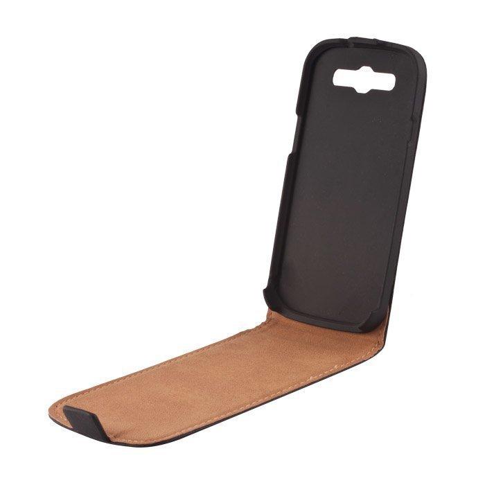 GreenGo Samsung Galaxy Trend / Trend Plus suojakotelo Laadukasta keinonahkaa Musta