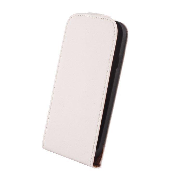 GreenGo Samsung Galay S3 Mini suojakotelo Laadukasta keinonahkaa Valkoinen