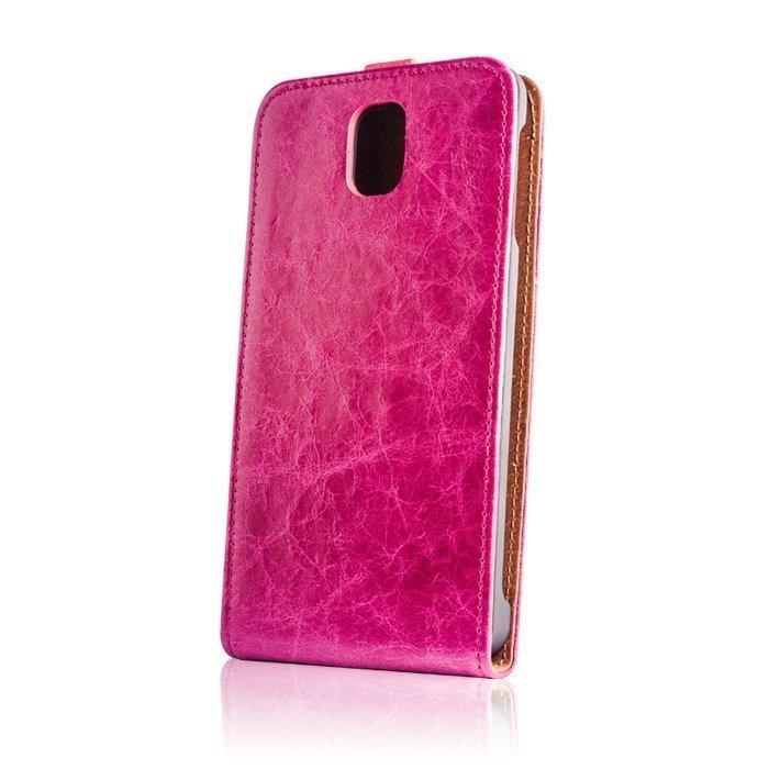 GreenGo iPhone 5 ja 5S Suojakotelo Käsityö Aito Nahka Pinkki