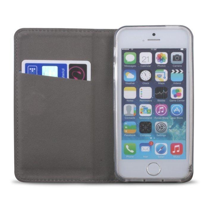 Greengo Smart Magnet Lompakkomallinen suojakotelo Huawei Honor 7 Lite / 5C Musta