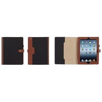 Griffin Backbay Folio Kotelo iPad 2 iPad 3 iPad 4 Musta / Ruskea