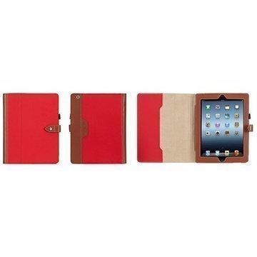 Griffin Backbay Folio Kotelo iPad 2 iPad 3 iPad 4 Punainen / Ruskea