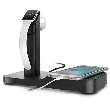 Griffin WatchStand Latausasema Apple Watch iPhone iPad Musta