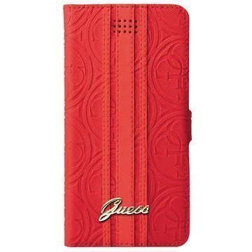 Guess Heritage Universal Wallet Case L Red