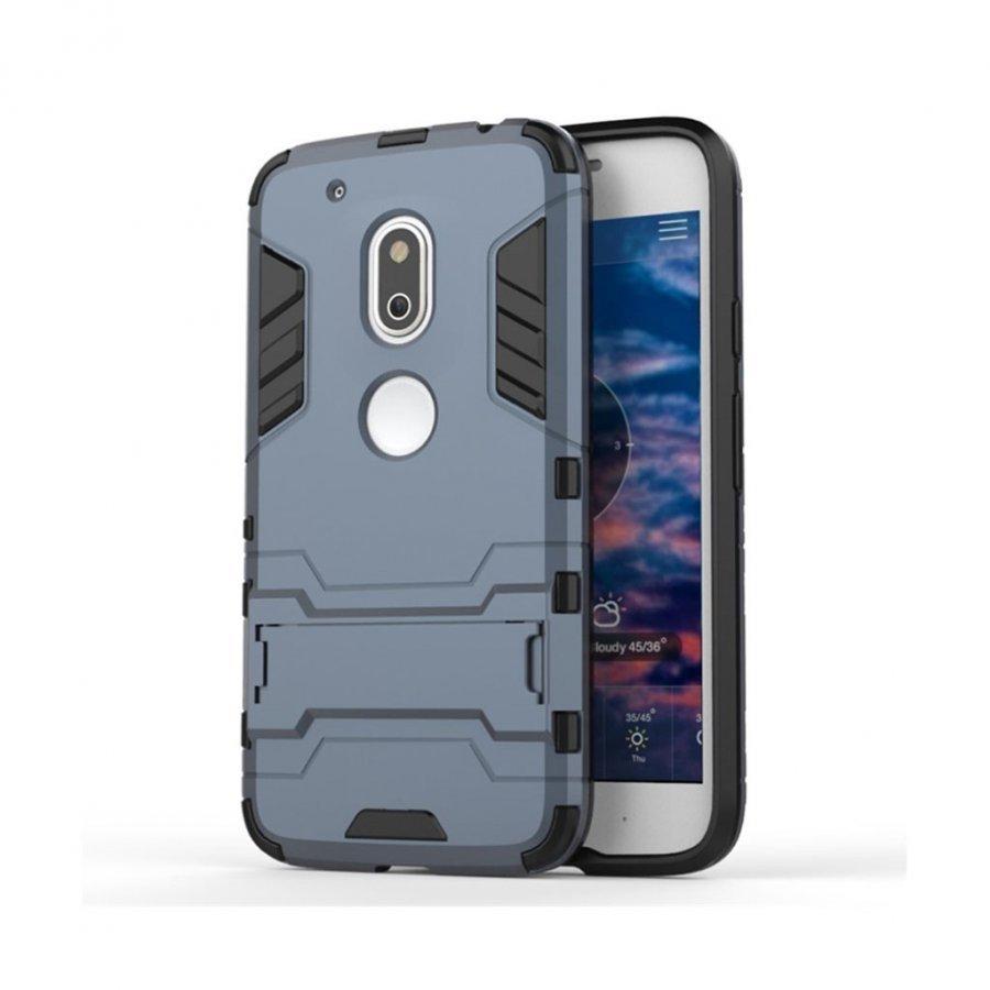 Hårderåde Motorola G4 Play Joustava Hybridi Muovikuori Tummansininen