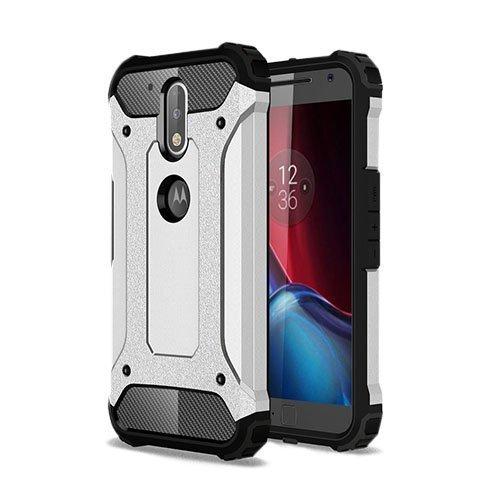 Hårderåde Motorola Moto G4 / G4 Plus Tpu Suojakuori Hopea