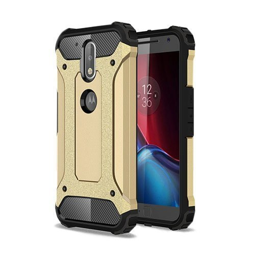 Hårderåde Motorola Moto G4 / G4 Plus Tpu Suojakuori Kulta