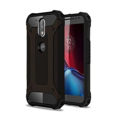 Hårderåde Motorola Moto G4 / G4 Plus Tpu Suojakuori Musta