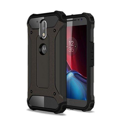 Hårderåde Motorola Moto G4 / G4 Plus Tpu Suojakuori Pronssi