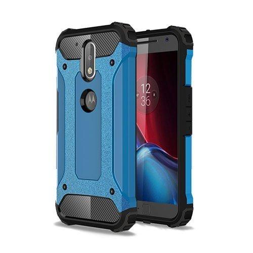 Hårderåde Motorola Moto G4 / G4 Plus Tpu Suojakuori Vaaleansininen