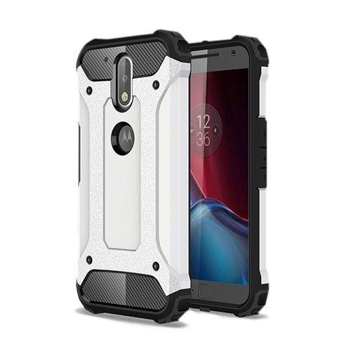 Hårderåde Motorola Moto G4 / G4 Plus Tpu Suojakuori Valkoinen