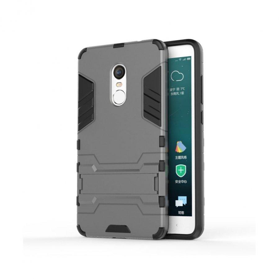 Hårderåde Xiaomi Remi Note 4 Joustava Hybridi Kuori Harmaa