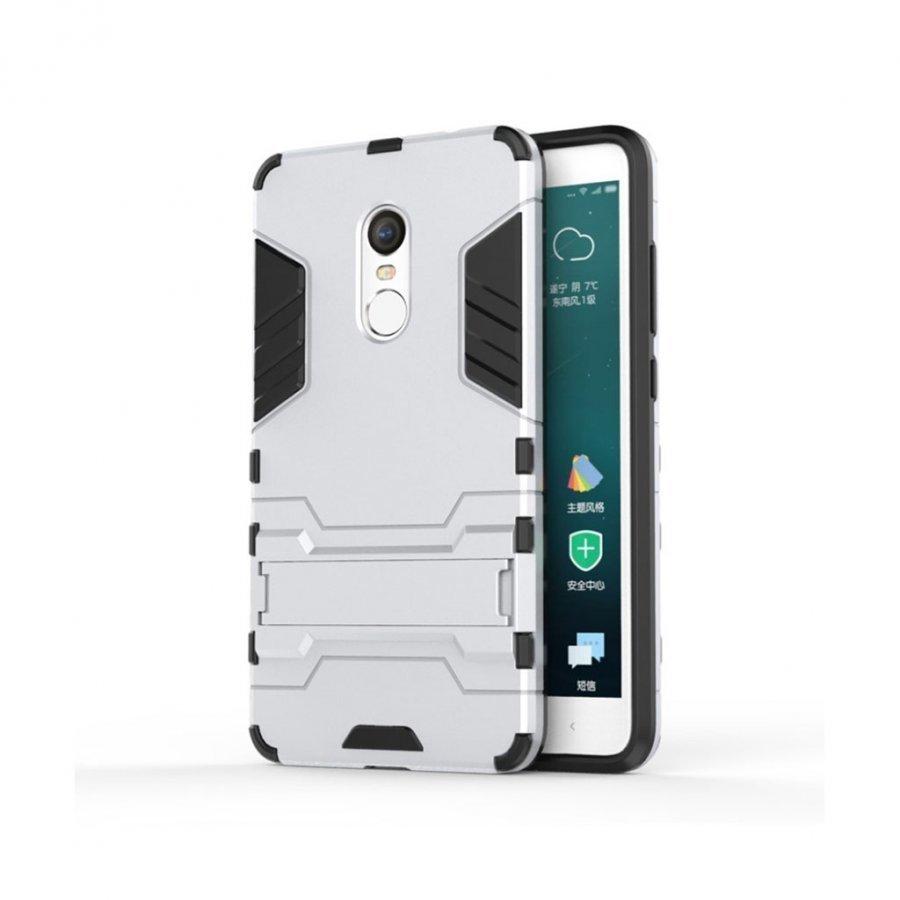 Hårderåde Xiaomi Remi Note 4 Joustava Hybridi Kuori Hopea