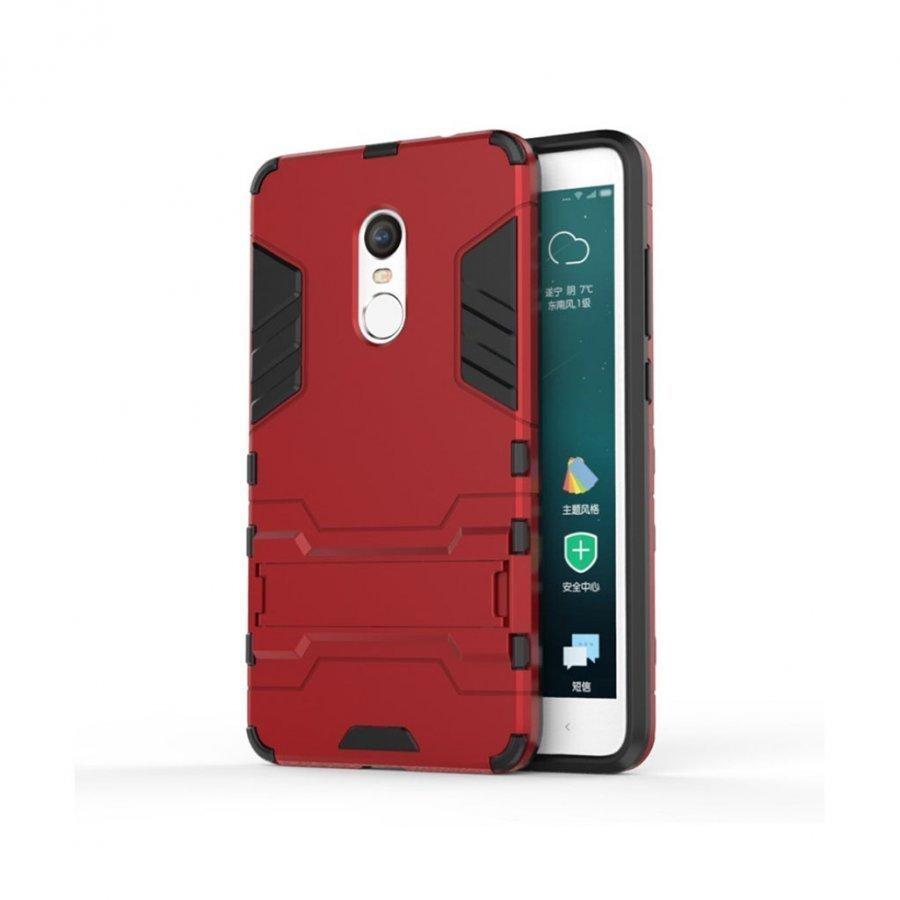 Hårderåde Xiaomi Remi Note 4 Joustava Hybridi Kuori Punainen