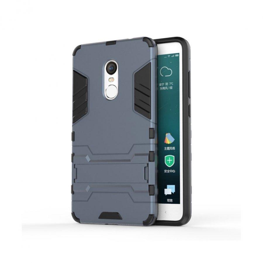 Hårderåde Xiaomi Remi Note 4 Joustava Hybridi Kuori Tummansininen