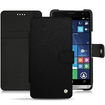 HP Elite X3 Noreve Tradition B Wallet Case Eebenpuunmusta