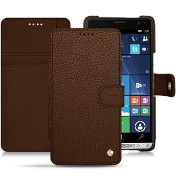 HP Elite X3 Noreve Tradition B Wallet Case Kastanjanruskea