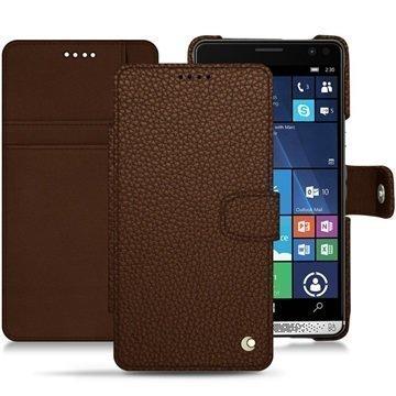 HP Elite X3 Noreve Tradition B Wallet Case Kastanjanruskea