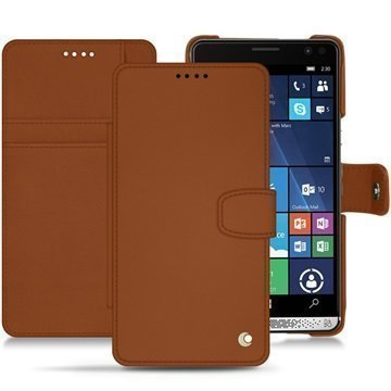 HP Elite X3 Noreve Tradition B Wallet Case Ruskea