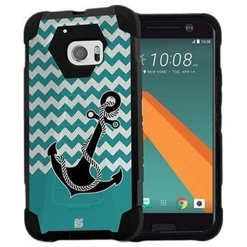 HTC 10 Beyond Cell Hyber V2 Shell Case Anchor / Chevron