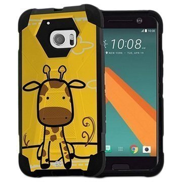 HTC 10 Beyond Cell Hyber V2 Shell Case Giraffe