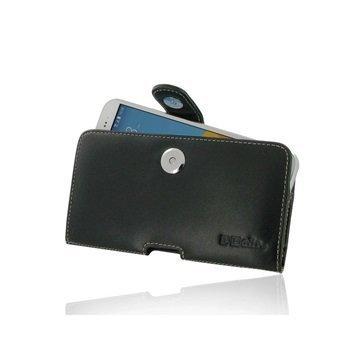 HTC 10 EVO PDair Vaakasuuntainen Nahkakotelo Musta