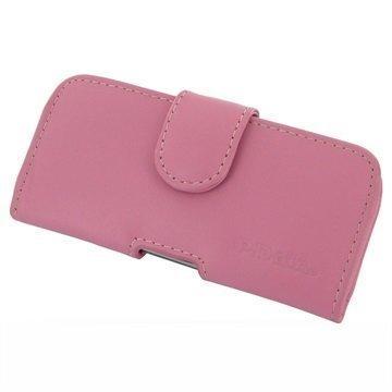 HTC 10 EVO PDair Vaakasuuntainen Nahkakotelo Pinkki