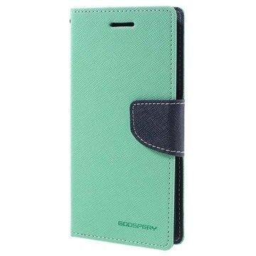 HTC 10 Mercury Goospery Fancy Diary Lompakkokotelo Syaani / Tummansininen