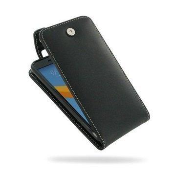 HTC 10 PDair Deluxe Nahkainen Läppäkotelo Musta