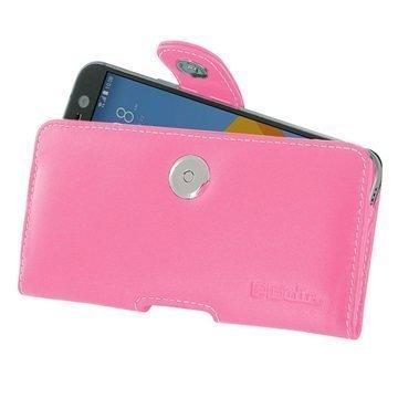 HTC 10 PDair Vaakasuuntainen Nahkakotelo Pinkki
