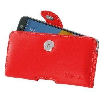 HTC 10 PDair Vaakasuuntainen Nahkakotelo Punainen