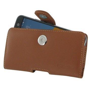 HTC 10 PDair Vaakasuuntainen Nahkakotelo Ruskea