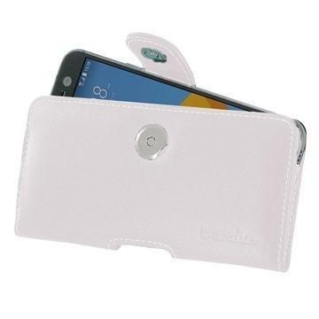 HTC 10 PDair Vaakasuuntainen Nahkakotelo Valkoinen