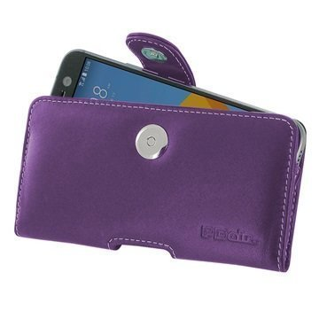 HTC 10 PDair Vaakasuuntainen Nahkakotelo Violetti