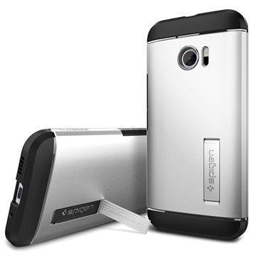 HTC 10 Spigen Slim Armor Suojakuori Hopea