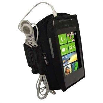 HTC 7 Mozart iGadgitz Urheilukotelo Käsivarteen Musta