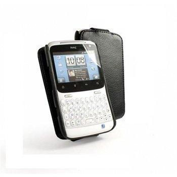 HTC ChaCha Tuff-Luv In-Genius Nahkakotelo Musta