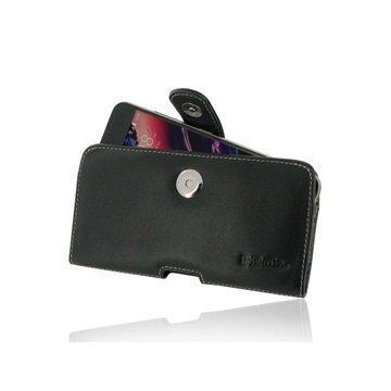 HTC Desire 10 pro PDair Vaakasuuntainen Nahkakotelo Musta