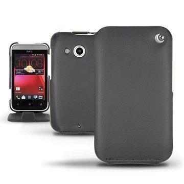 HTC Desire 200 Noreve Tradition Flip Nahkakotelo Musta