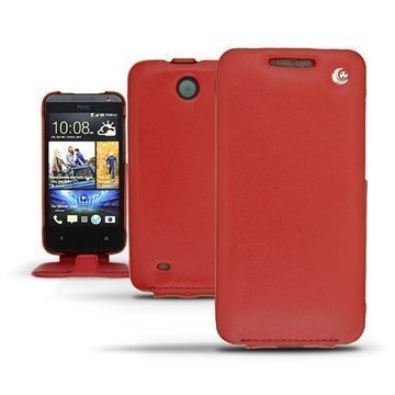HTC Desire 300 Noreve Tradition Flip Leather Case Red