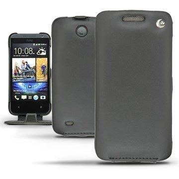 HTC Desire 300 Noreve Tradition Flip Nahkakotelo Musta