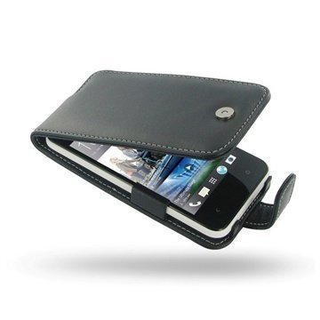 HTC Desire 300 PDair Leather Case 3BHTS3F41 Musta