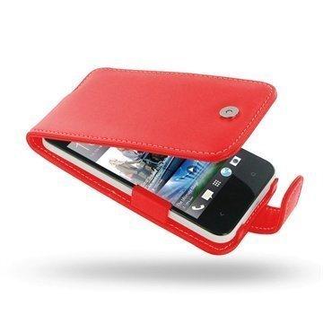 HTC Desire 300 PDair Leather Case 3RHTS3F41 Punainen
