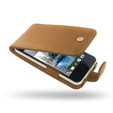 HTC Desire 300 PDair Leather Case 3THTS3F41 Ruskea