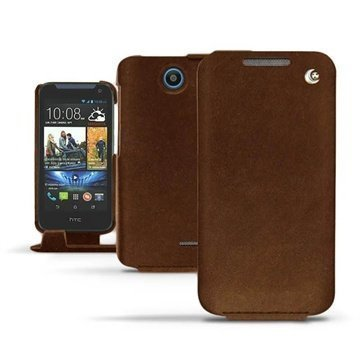 HTC Desire 310 Noreve Tradition Flip Nahkakotelo Hiekka Vintage