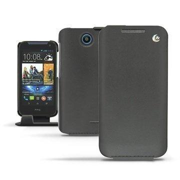 HTC Desire 310 Noreve Tradition Läpällinen Nahkakotelo Musta