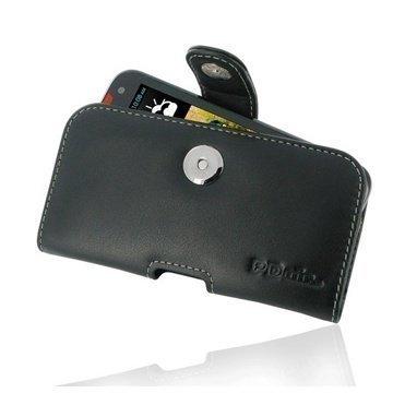 HTC Desire 310 PDair Vaakakotelo Nahka Musta