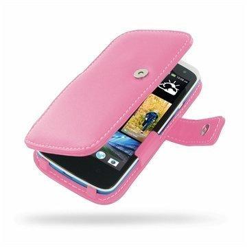 HTC Desire 500 PDair Leather Case 3JHTS5B41 Vaaleanpunainen